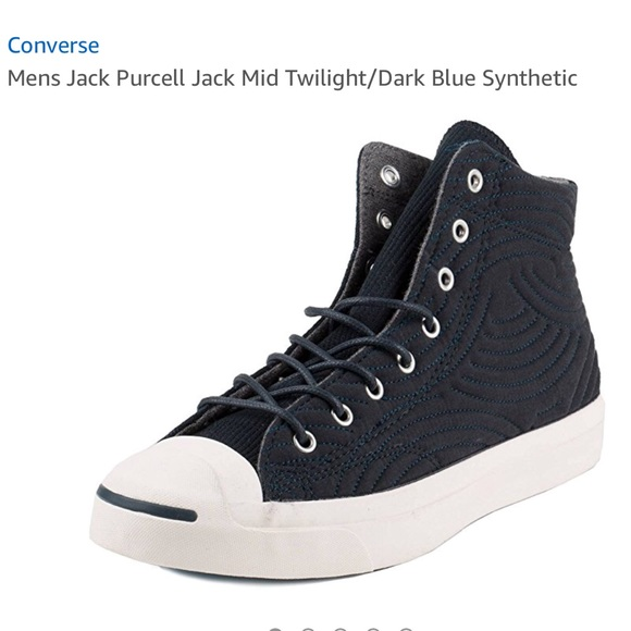ac63a93de0871a Converse Jack Purcell Jack Mid Twilight Dark Blue